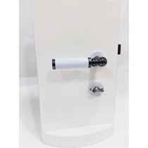 Fechadura Banheiro 55mm Porta De Madeira Fume/branco Fama