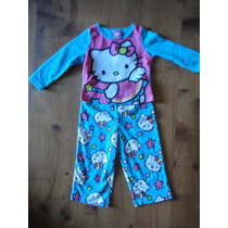 Pijama Hello Kitty De Fleece Importado Original Novo 2 Anos