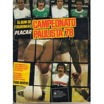 Álbum De Figurinha Escaneado Campeonato Paulista De 1978