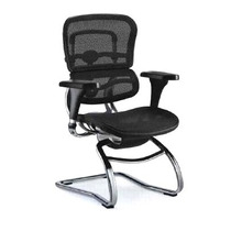 Cadeira Ergochair Visitante Ergonomica Anatomica Mesh Preta