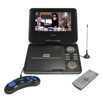 Dvd Portatil Segree 7 300 Jogos Usb + Sd + Tv + Radio Fm