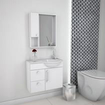 Balcão Gabinete De Banheiro Alegro 602 Branco Com Lavatório