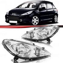 Farol Peugeot 307 2002 2003 2004 2005 2006 Cromado Com Milha