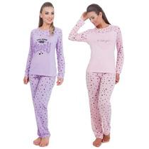 Pijama Feminino De Frio Adulto Inverno Victory Pijama Longo