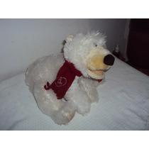 Boneco De Pelúcia Urso Branco Mexe A Cabeça