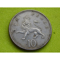 Moeda Da Inglaterra De 1992 - 10 Pence (ref 229)