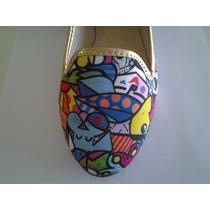 Sapatilhas - Sapatos Femininos - Inspirados Romero Britto