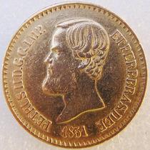 Moeda De Ouro 20000 Reis 1851 17.9 Gr Coleção Objeto Antigo