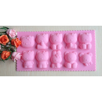 Molde De Silicone/ Hello Kitty,mini Bolos,cake,chocolate,