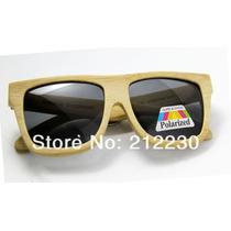 Óculos De Sol Bamboo & Madeira Lente Fume 40% Desc.