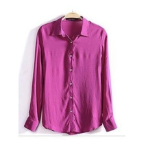 Blusa Camisa Feminina Manga Comprida+ Brinde Surpresa