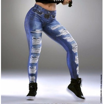 Calça Legging Imita Jeans Fake [ Roupas Femininas ]