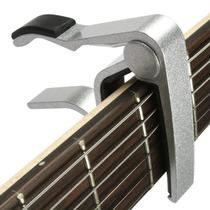 Capotraste Para Violão Guitarra Cavaco Etc Metal Prateado