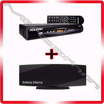 Kit Conversor Tv Digital Gravador H D T V + Antena Interna