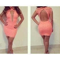 Vestido Renda Com Decote Tule Lindo