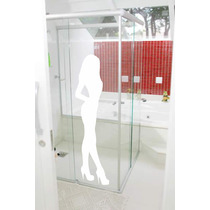 Adesivo Decorativo Parede Box Banheiro Mulher Vidro Sensual