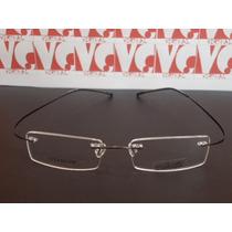 Armação Óculos Grau Silhouette B668 Titanium Flexivel Grafit