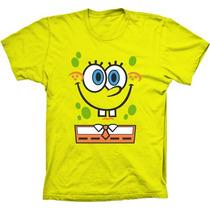 Camiseta Bob Esponja Babylook Feminina Masculina Infantil