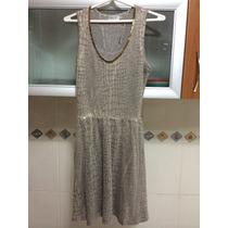 Vestido Shop 126 Lurex Detalhe Pala Canotilho Tam P