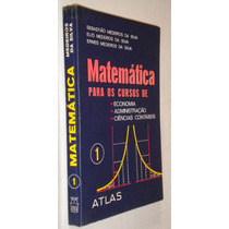 Matematica Para Economia Administração Ciências Cont Livro