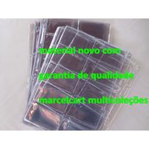 100 Folhas Novas Pvc Rigido Porta Cartão Excelente Qualidade