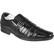 Sapato Social Conforto Antistress Pelica Couro De Cabra 010