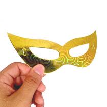 Kit Com Doze Mascaras Holográfica Para Festas E Eventos