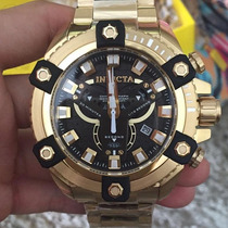 Relógio Invicta 19584 Coalition Tamanho Gigante 56mm B Ouro