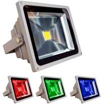 Refletor - Holofote Led Rgb 10w - 16 Cores Sem Controle