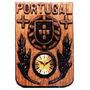 Relogio De Parede Em Madeira Portugual Novo