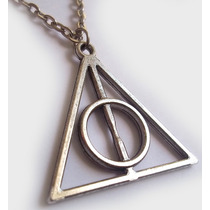 Colar Pingente Harry Potter Relíquias Da Morte Frete Grátis