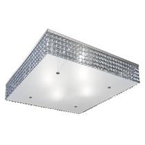 Plafon Alumínio Cristal Quadrado 40x40 - Lustre Sala - Mun