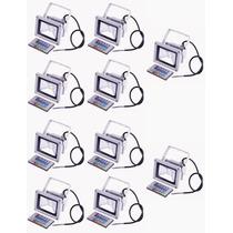 Refletor Holofote Super Led Rgb 10w Ip65 Com Controle 10 Und