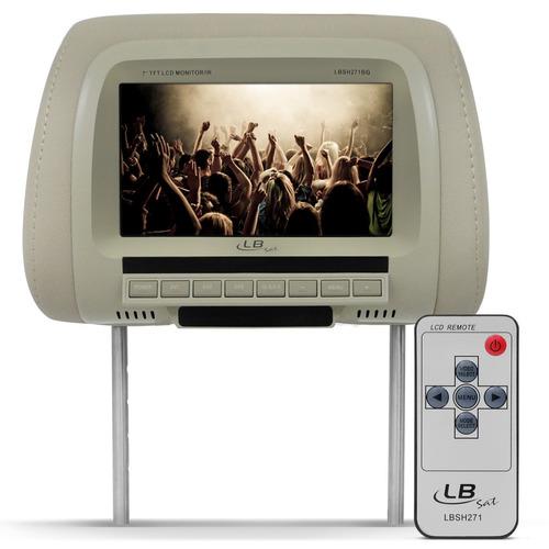 Encosto De Cabeça Veicular Com Monitor Tela De Lcd Embutida