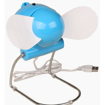 Ventilador De Mesa Usb Fan Cooler + Adaptador Tomada Bivolt
