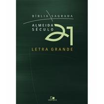 Bíblia Letra Grande Almeida Século 21 - Brochura - Verde
