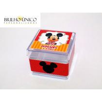 Lembrancinha Mickey - Caixinha Acrílico - 30 Unidades