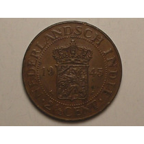 Sob) Netherland East Indies) 2-1/2 Cents - 1945 = Escassa