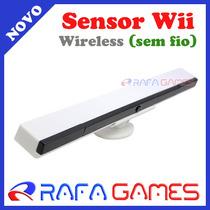 Barra Sensor Nintendo Wii Wireless Sem Fio Branco C/ Suporte