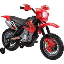 Moto Eletrica Infantil Vermelha/preto Recarregável Bivolt