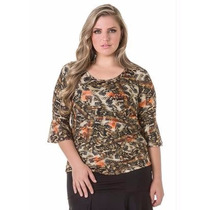 Blusa Plus Size - Roupa Gordinha Linda G Gg Xxg Xlg