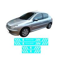 Soleira Vinil Varias Cores Peugeot 206 4 Portas