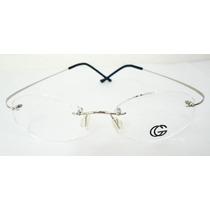 Armação Oculos Grau Beta Titanium Flexivel Prata Importada