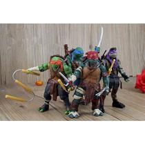 Tartarugas Ninja Kit 4 Bonecos Pronta Entrega