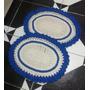 Jogo De Tapetes De Crochê Para Sala, Cozinha, Banheiro