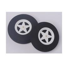 Roda De Espuma Com Cubo De Nylon Raiado 60x18mm (par)
