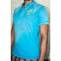 Camisa Polo Hollister - Azul - Tamanho M - 100% Original
