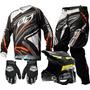 Kit Cross Equipamento Pro Tork Trilha Motocross Roupa