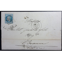 França 1 8 6 9 Carta Circulada De Liége Para Beaume Yv. 29 B
