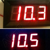 Voltímetro Digital Vermelho Remote 12v 24v Bateria Carro Som